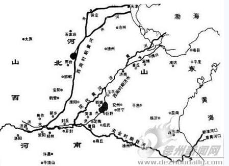 黄河改道,历史上黄河六次大改道